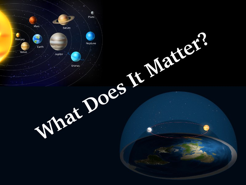 heliocentric model versus flat earth model of universe