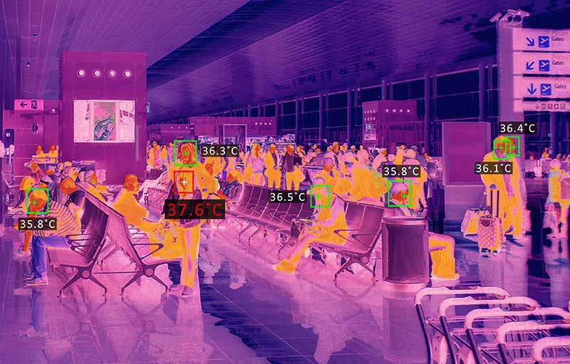 EST Monitoring at Airport Using a Thermal an Infrared Camera