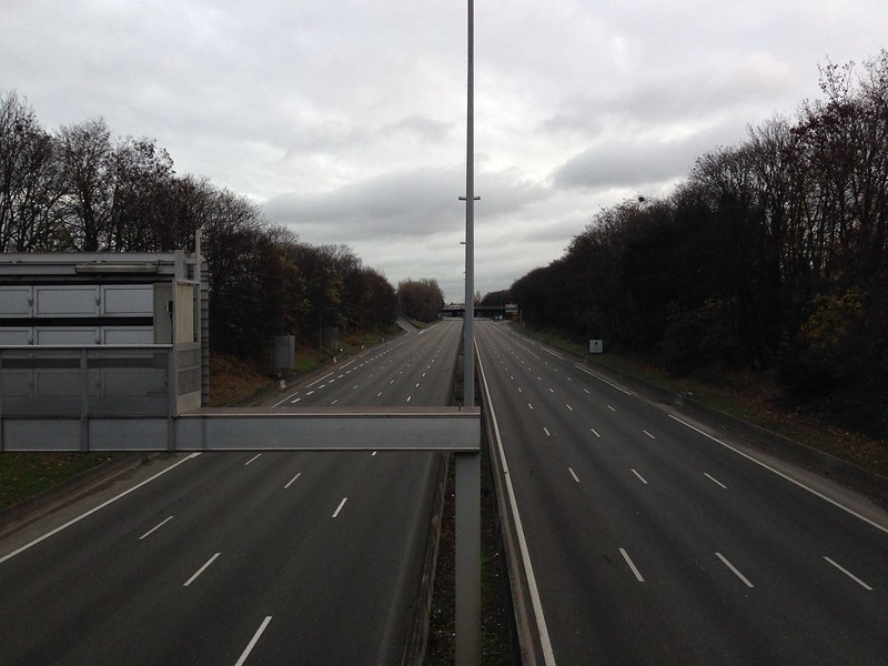 An empty road (in this case Paris during the COP 21)