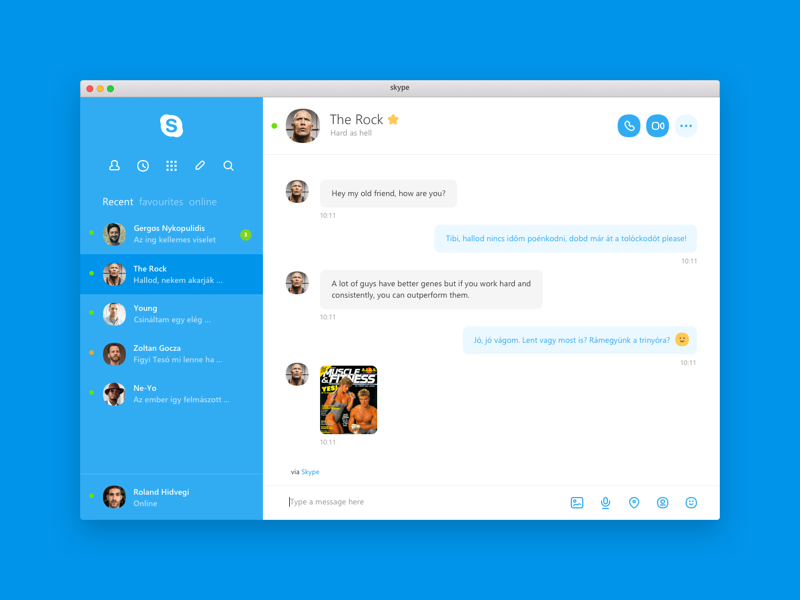 Skype Redesign Concepts - Muzli - Design Inspiration