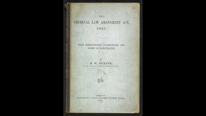"""An old book with the title """"Criminal Law Amendment"""""""