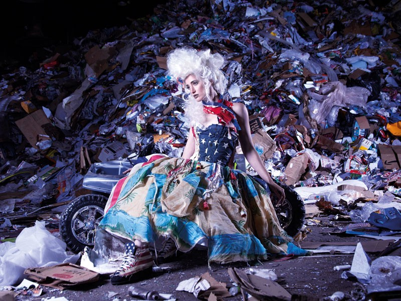 "Marina Debris is an Australian ""trashion"" designer — transforming ocean and beach garbage into garments, showing the importance of fashion minimalism to combat this problem."
