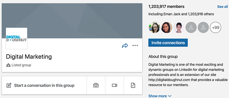 join groups on linkedin for you brand