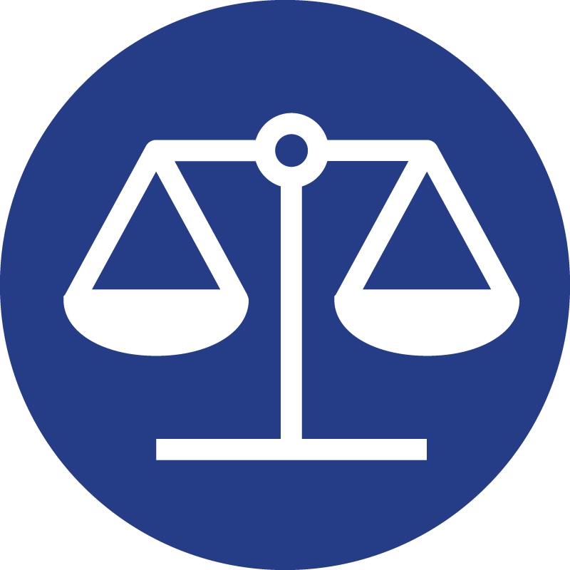 The fake debate icon, a set of balance-scales.