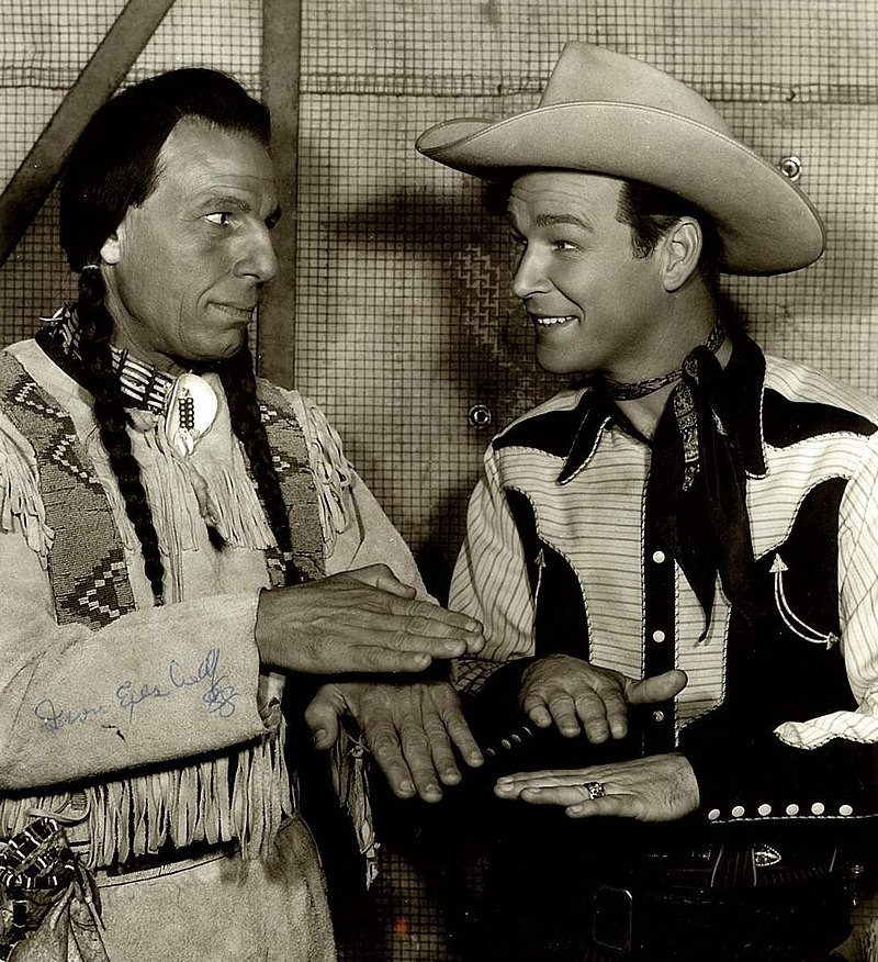 Iron Eyes Cody with Roy Rogers