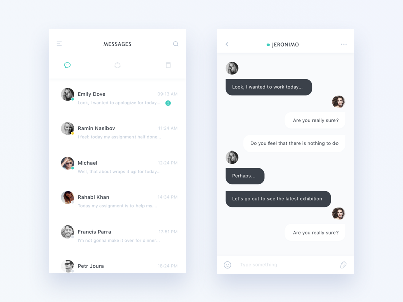 Amazing Chat Interface Inspiration , Muzli , Design Inspiration