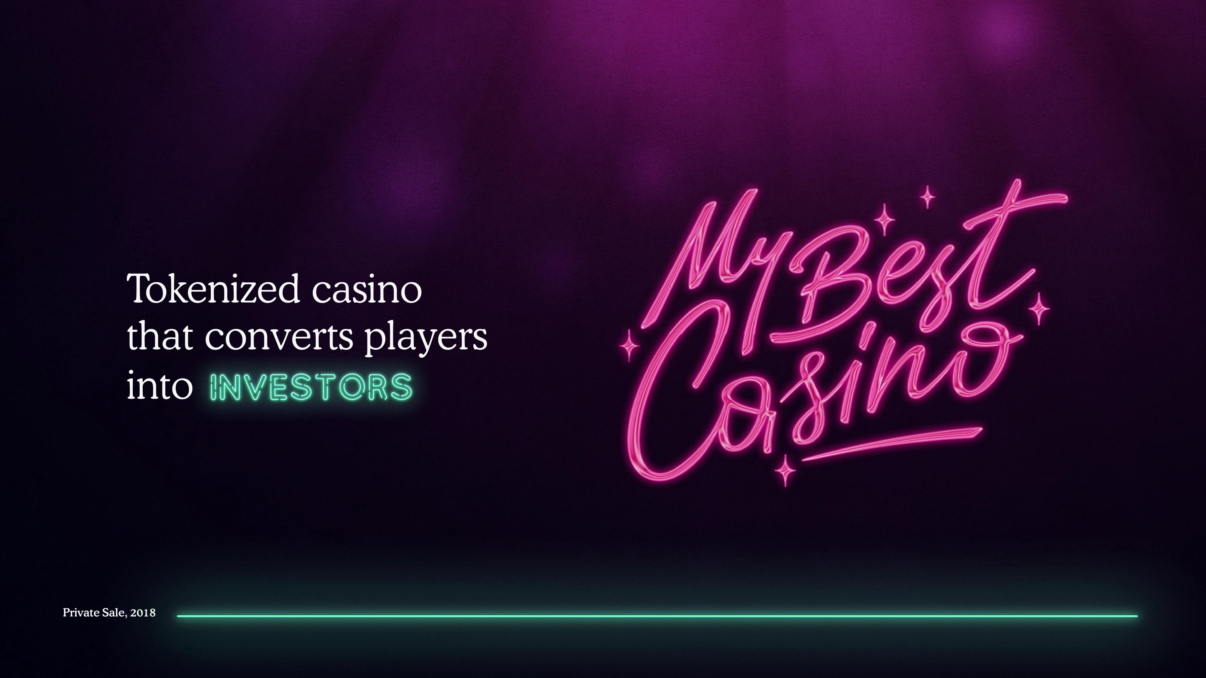 Goldfinch Network's new project: My Best Casino — online