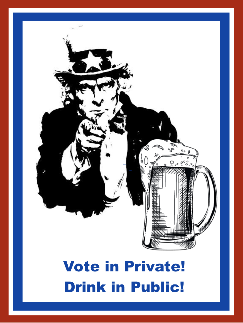 "Memes young activists tweeted: ""Vote in Private! Drink in Public!"""