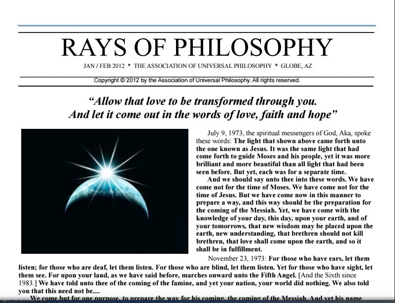 What Is the Association of Universal Philosophy? - A