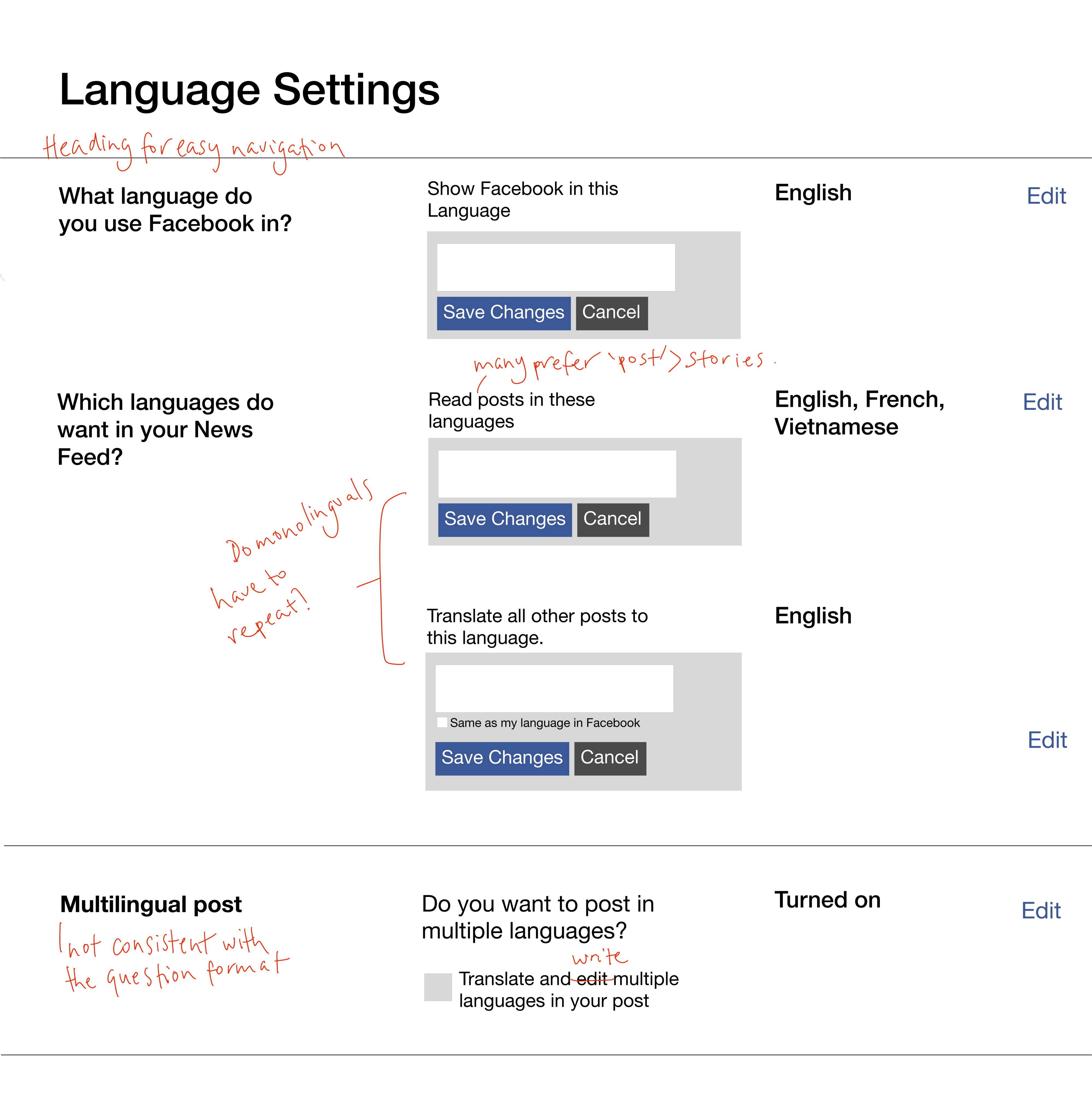 Facebook's language settings — a UX writing case study