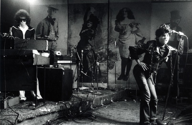 The band, Suicide, performing live