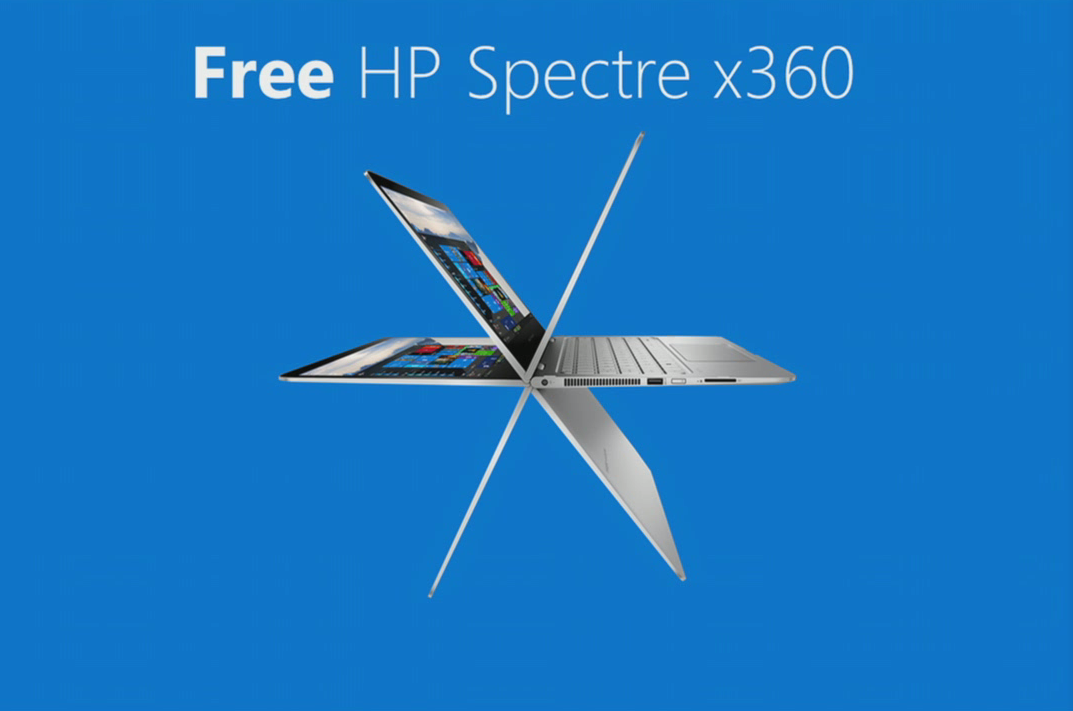 Build 2015 give away er en HP Spectre x360