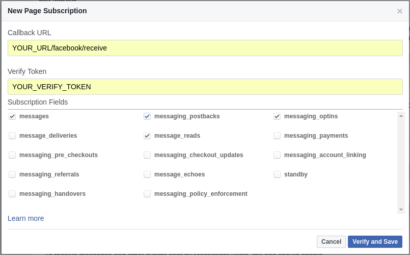 Create, Develop and Deploy your FB Messenger chatbot