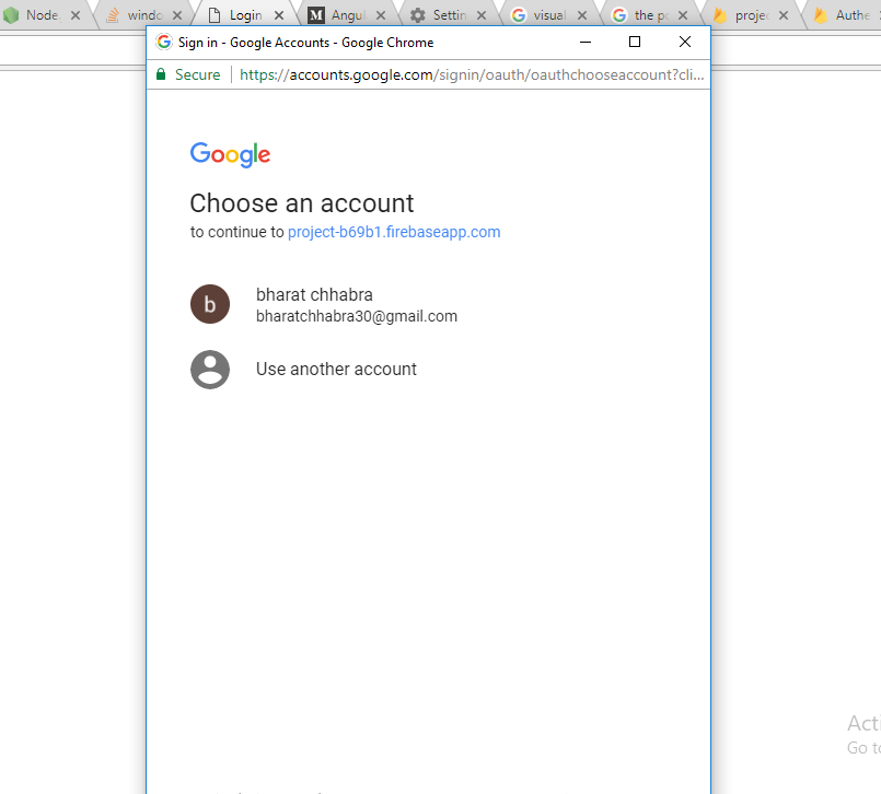 Node js — Facebook, Gmail authentication with Firebase for Web