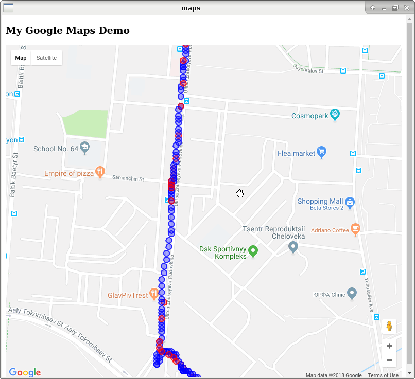 Reduce GPS data error on Android with Kalman filter and