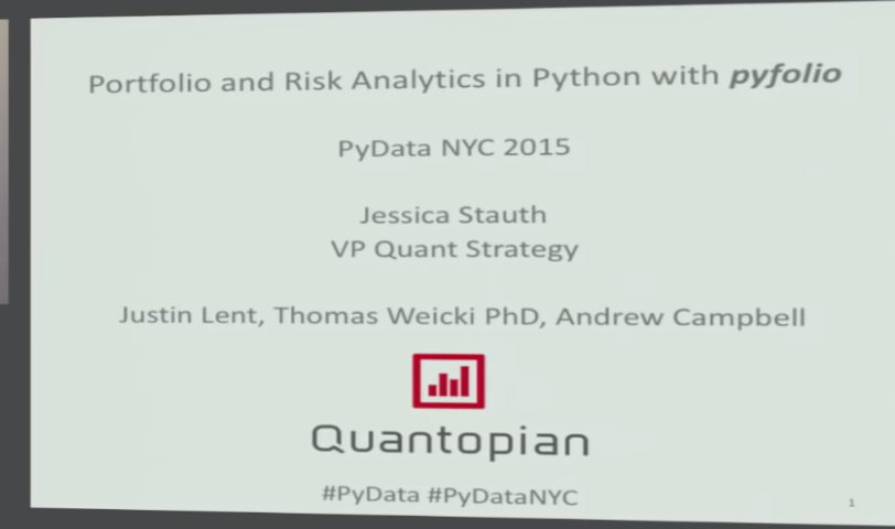 Archived Post ] Dr Jessica Stauth: Portfolio and Risk