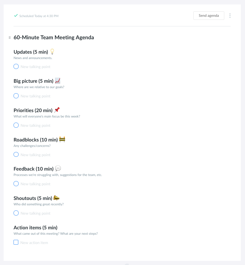 How To Run Your Weekly Team Meeting Free Agenda Templates Pro Tips By Manuela Barcenas Fellow App What Great Managers Know Medium