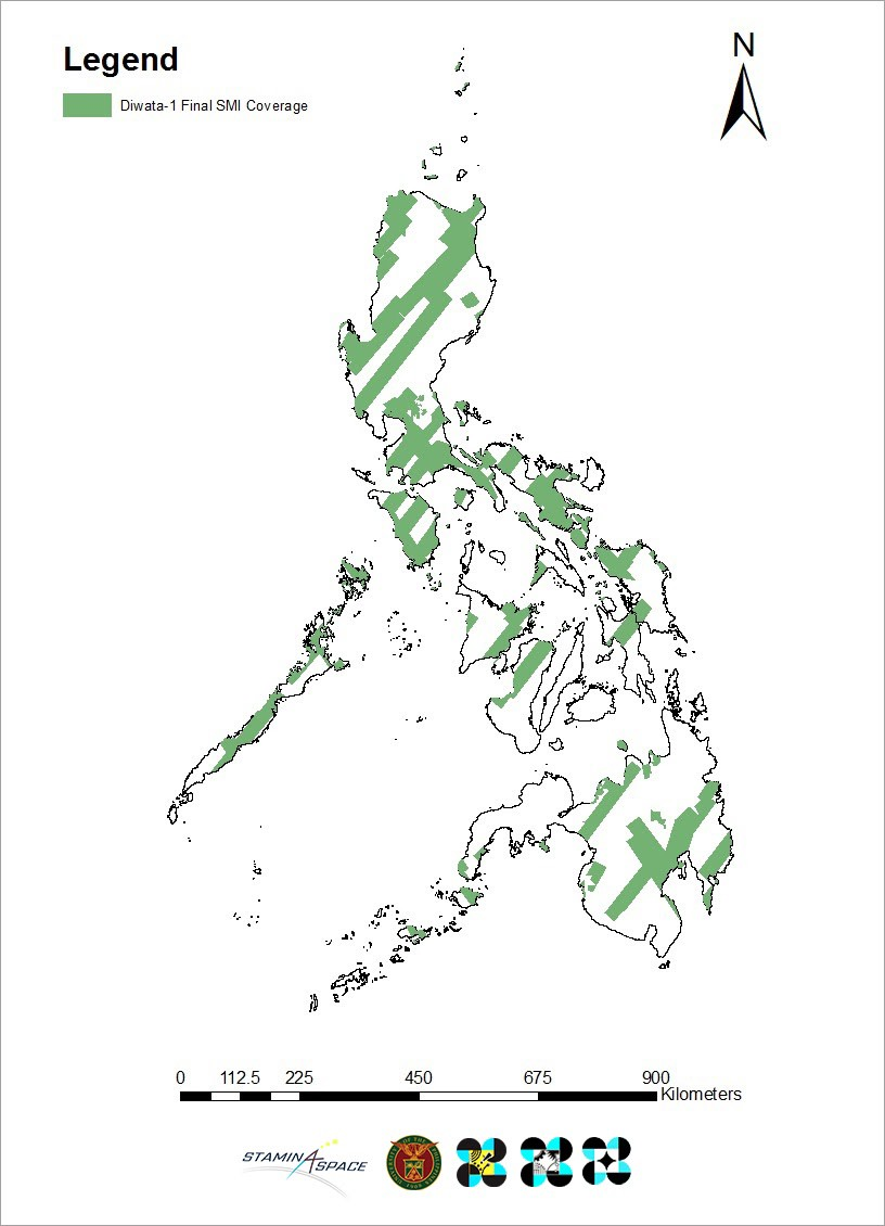 Figure 1. Visualization of Diwata-1's coverage of the Philippines