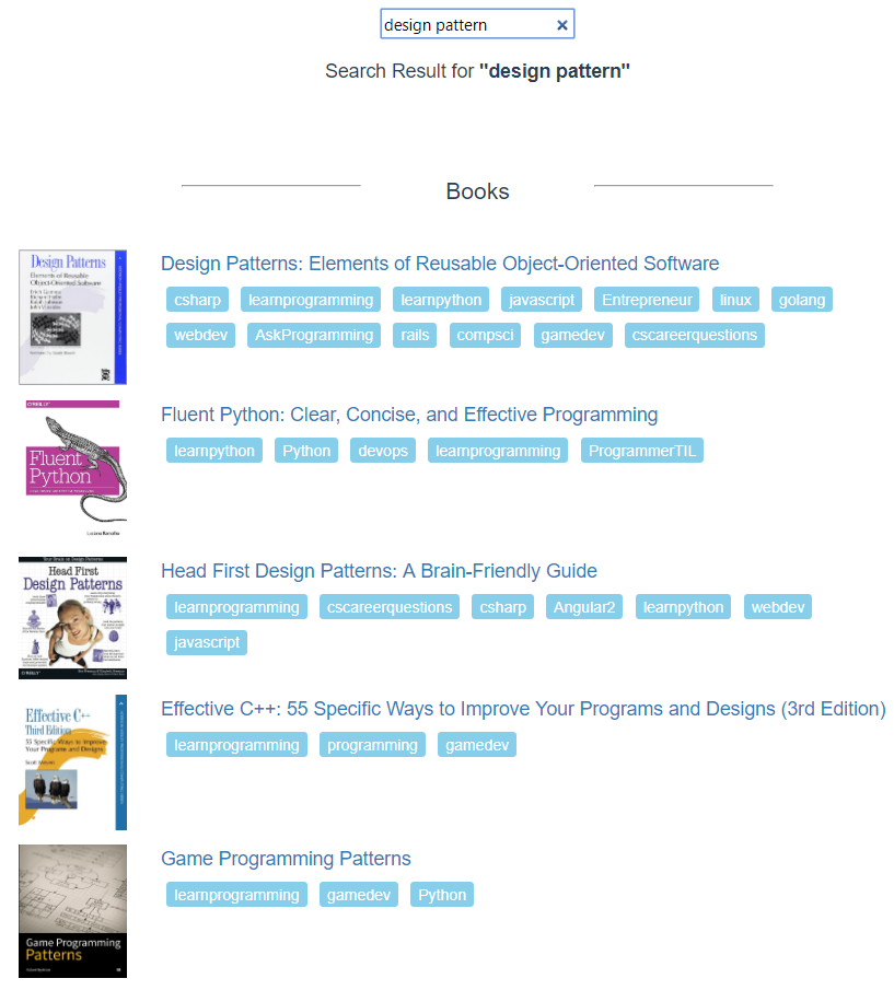 Collection of over 5,000 Technology Books Recommendations