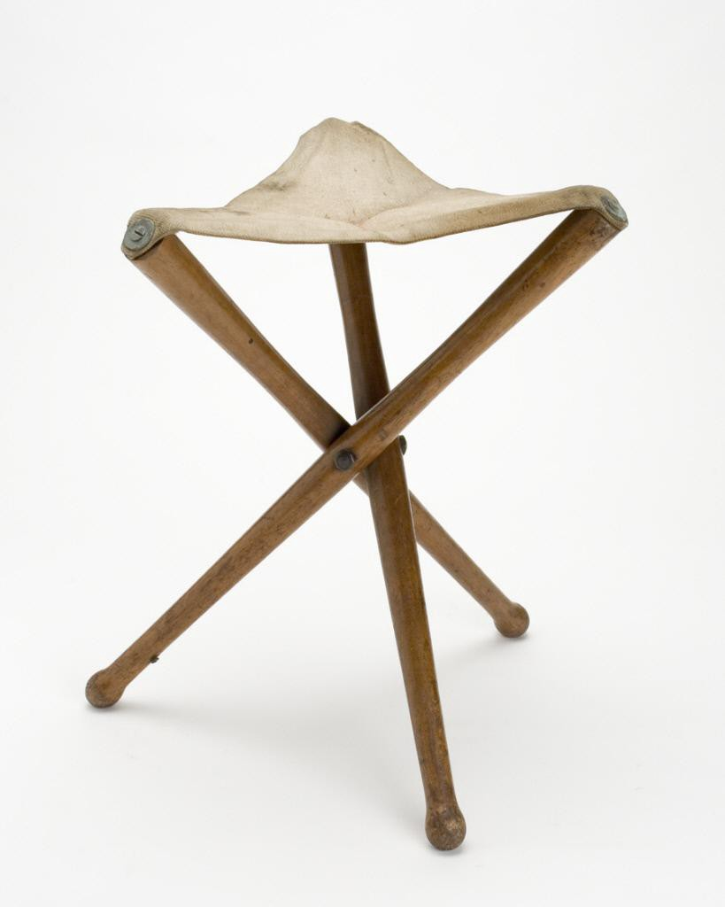 Collapsible wooden stool from the 1800s.