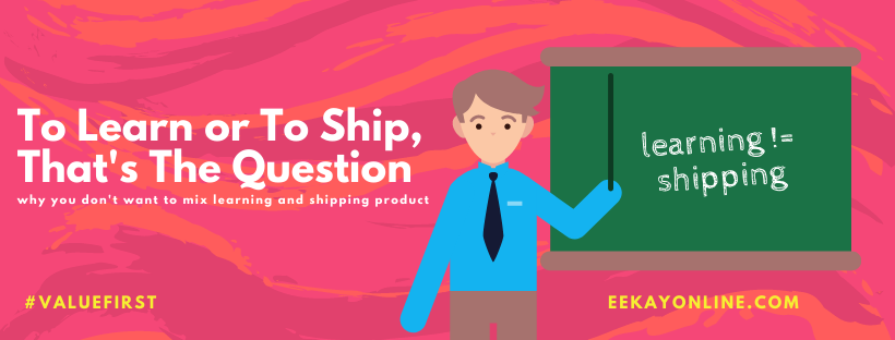Learning a framework or tool while trying to ship your product doesn't blend well. In this article, I'll tell you why that is.