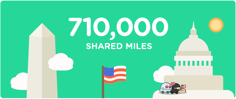 710,000 shared miles in Washington, D.C.