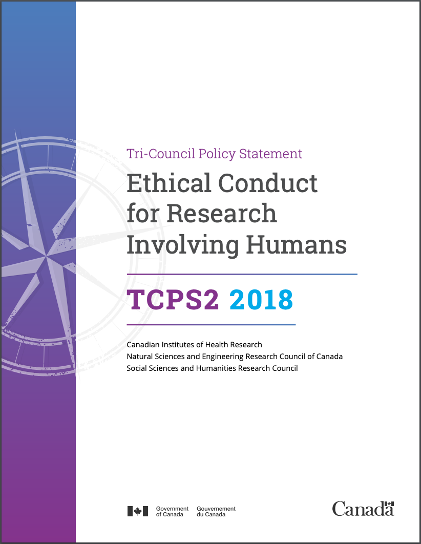 Ethical Conduct for Research Involving Humans—Cover page to a 211 page PDF