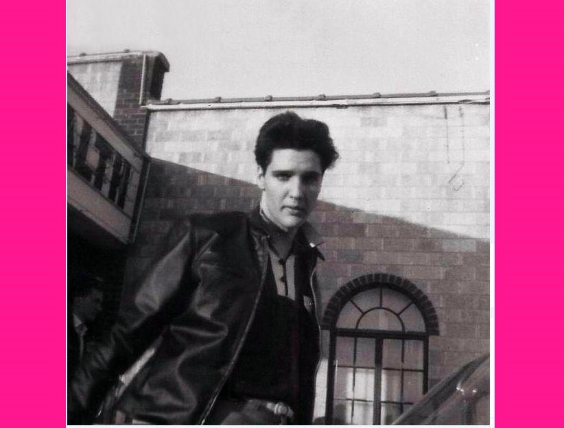 Elvis Presley Is Back! The King sizzles in this circa March 19, 1960 candid at the Rainbow Skating Rink in Memphis, Tennessee