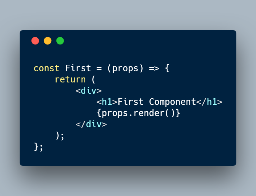 Using Composition and Render Props instead of Context API