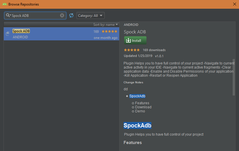 "Spock ADB"" A great Plugin for Android Studio 👌 - AndroidPub"