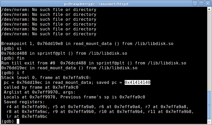 ASUSWRT RCE via Buffer Overflow, ASLR Bypass - Independent