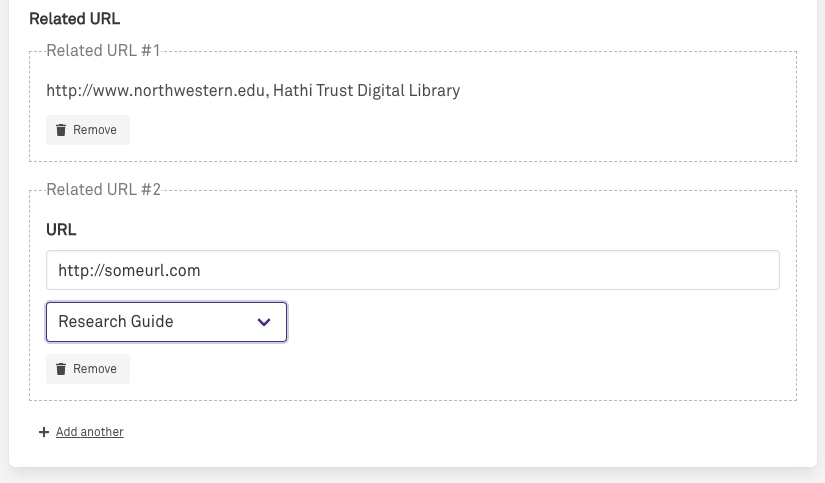 Related URL form field array