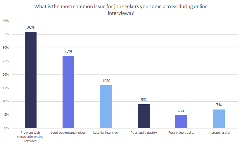 Common issues for job seekers during online interviews