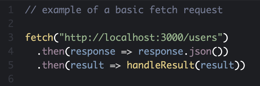 Example of a basic fetch request
