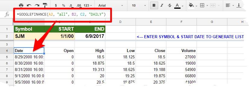 Microsoft Excel: Basic PowerQuery — Stock Price Data From