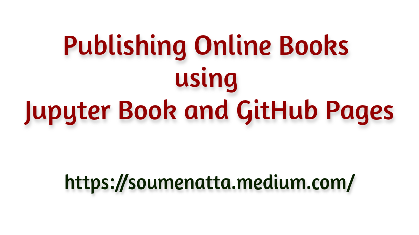 Publishing Online Books using Jupyter Book and GitHub Pages