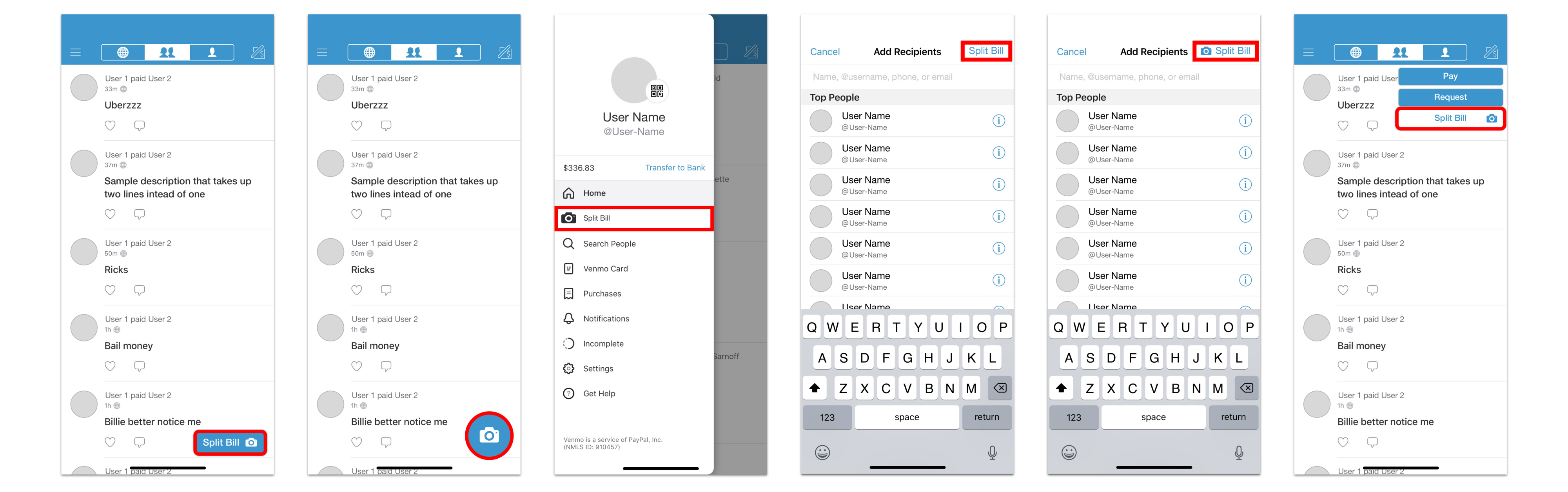 Venmo Design Concept: Payment Flow, Bill Splitting, and