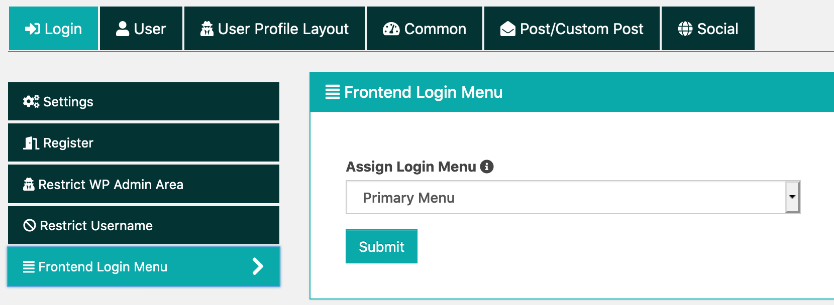 User Login Or Dashboard and Logout Frontend Dashboard
