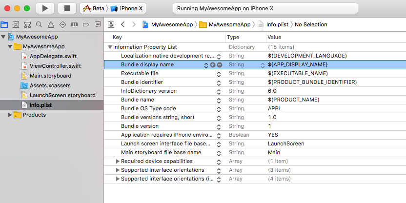 Different App Display Name based on Xcode Scheme - Swift2Go
