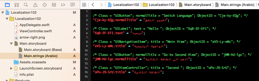 Working with Internationalization and Localization in swift