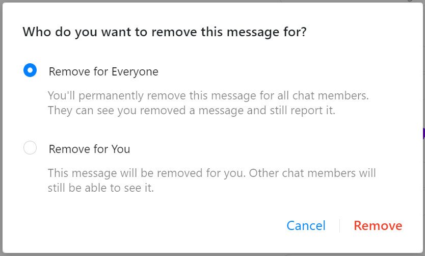 Facebook Messenger exposing deleted messages using [Remove for Everyone]    by Renwa   Medium