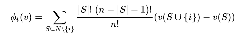 Shapley value distribution of payoffs among players in Game Theory
