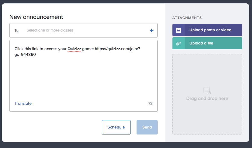 Share Your Quizizz Game On Remind By Quizizz Quizizz