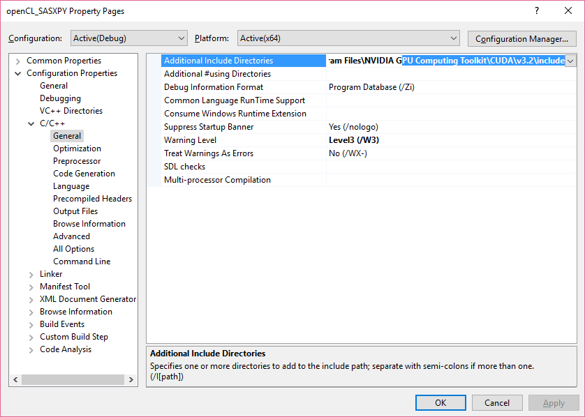 OpenCL on Visual Studio : Configuration tutorial for the