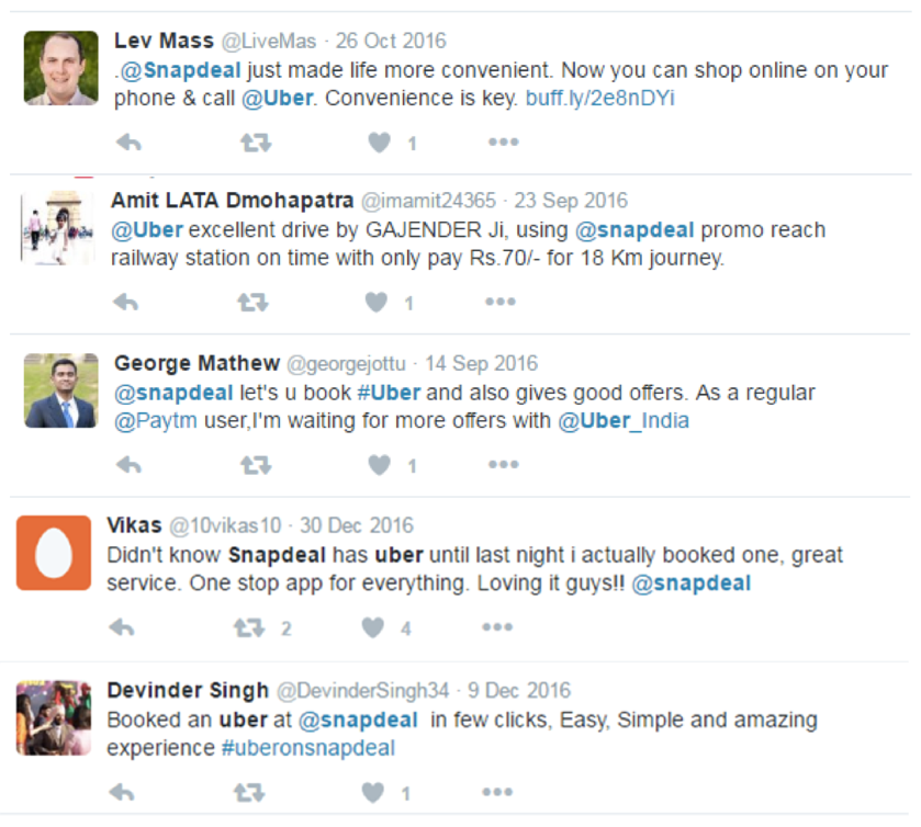 Snapdeal and Uber make getting around in India a snap