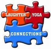 3 red puzzle interconnected pieces labelled laughter, yoga and connections.