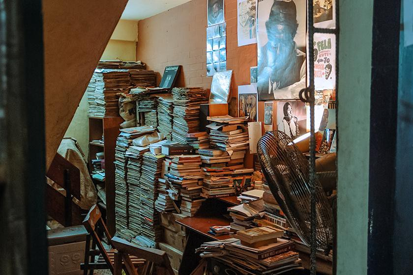 Part of the Jazzhole's charm also comes from the works of art on display and the plethora of little curiosities. (Photo: Gini