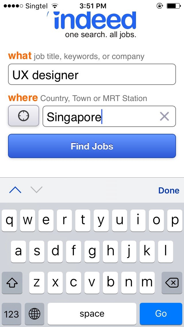 Proposed UX re-design of Indeed jobs app - Jules Ang - Medium