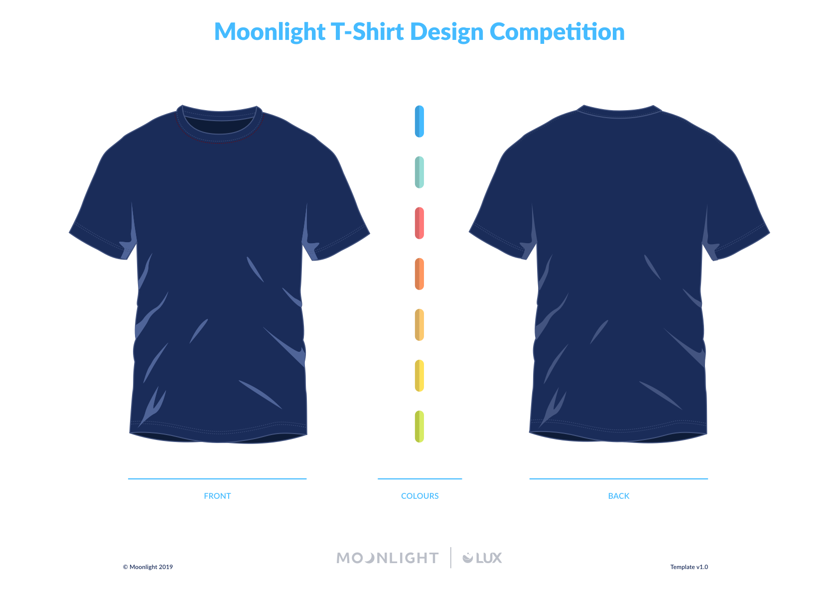T-shirt Templates (Blue & White)