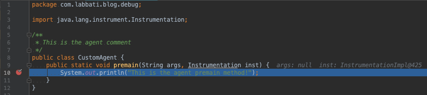 Debug java apps running with a java agent through Gradle